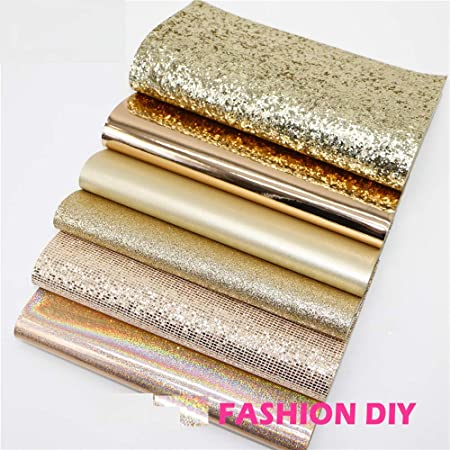 GOLD FOIL Metallic faux Leather sheets Craft supplies Leather supplies Faux leather Diy Craft leather