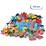 Party Favors Kids - Carnival Prizes Toys Bulk - 122PCS Pinata Filler Toy Assortment - Boys Girls Birthday Box - Classroom Treasure Chest - Games Pack