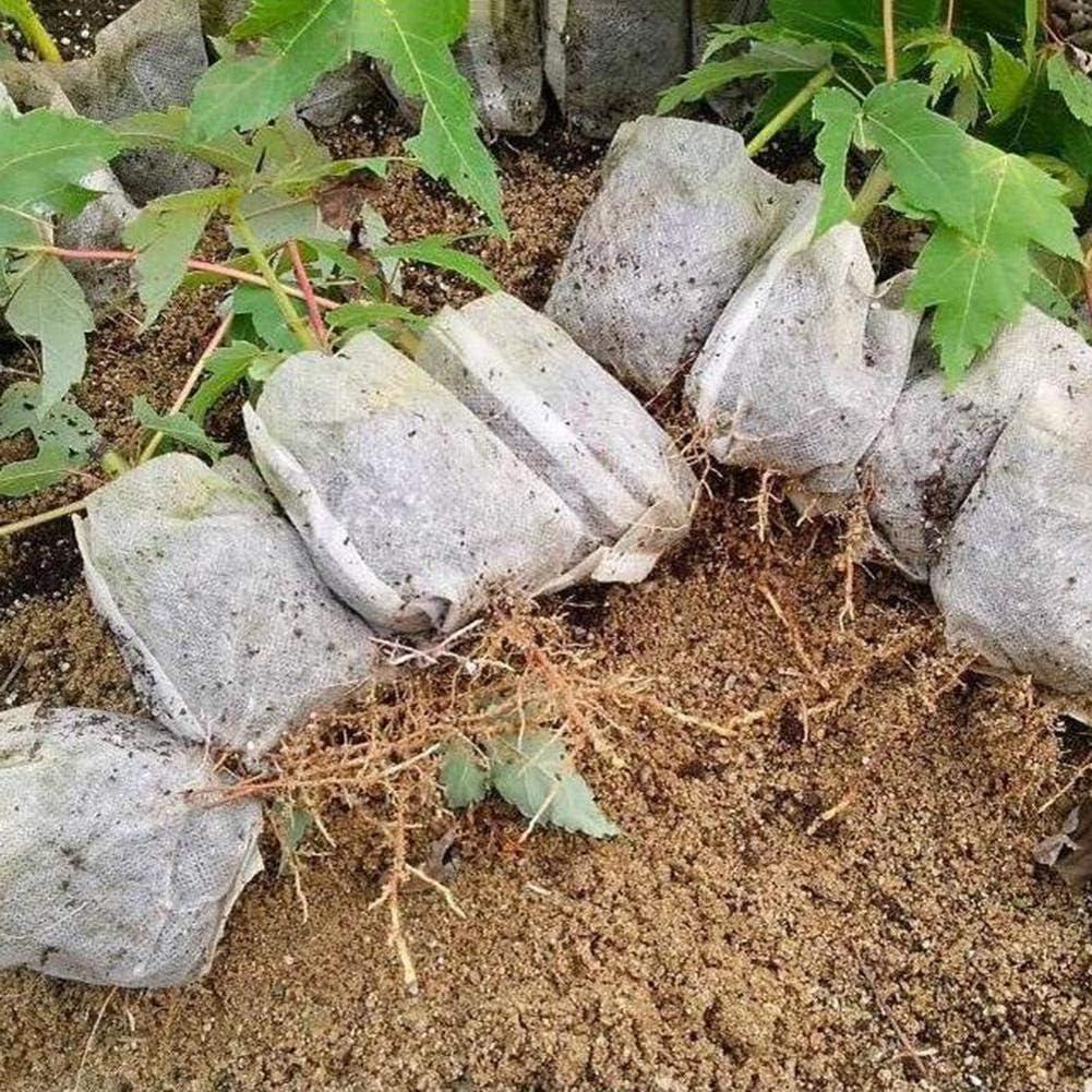 Navigatee 100 PCS 7 9 CM Pot de Plante D/égradable Respectueux de lenvironnement Pots de Plantes Biod/égradables Sacs de Semis Non-Tiss/és Sacs de P/épini/ère Everywhere Outgoing