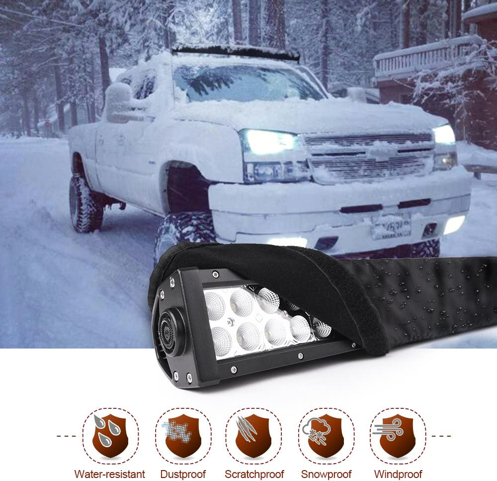 B077D36Q2B MICTUNING 52 inches Universal Straight and Curved LED Light Bar Cover - Water-resistant, Windproof, Dustproof, Snowproof Scratch-proof Protective Sleeve 61gye7OdQsL