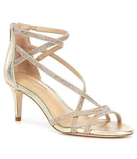 c06b88773b15d7 Antonio Melani Solmer Jeweled Leather Dress Sandals (Gold