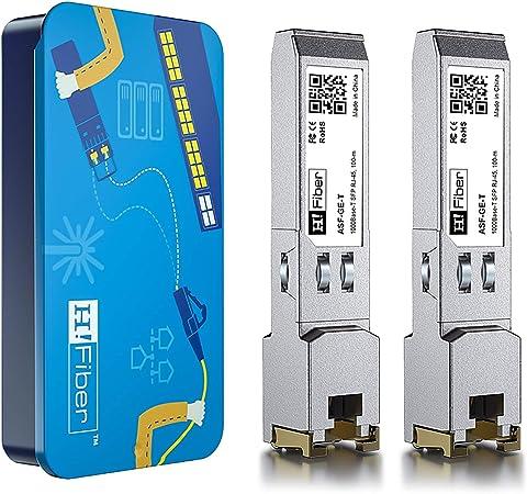 Meraki MA-SFP-1GB-TX SFP to RJ45 Copper Module TP-Link 1000BASE-T Mini-GBIC Gigabit Transceiver for Cisco GLC-T//SFP-GE-T up to 100m Pack of 4 Netgear D-Link Supermicro Ubiquiti UF-RJ45-1G