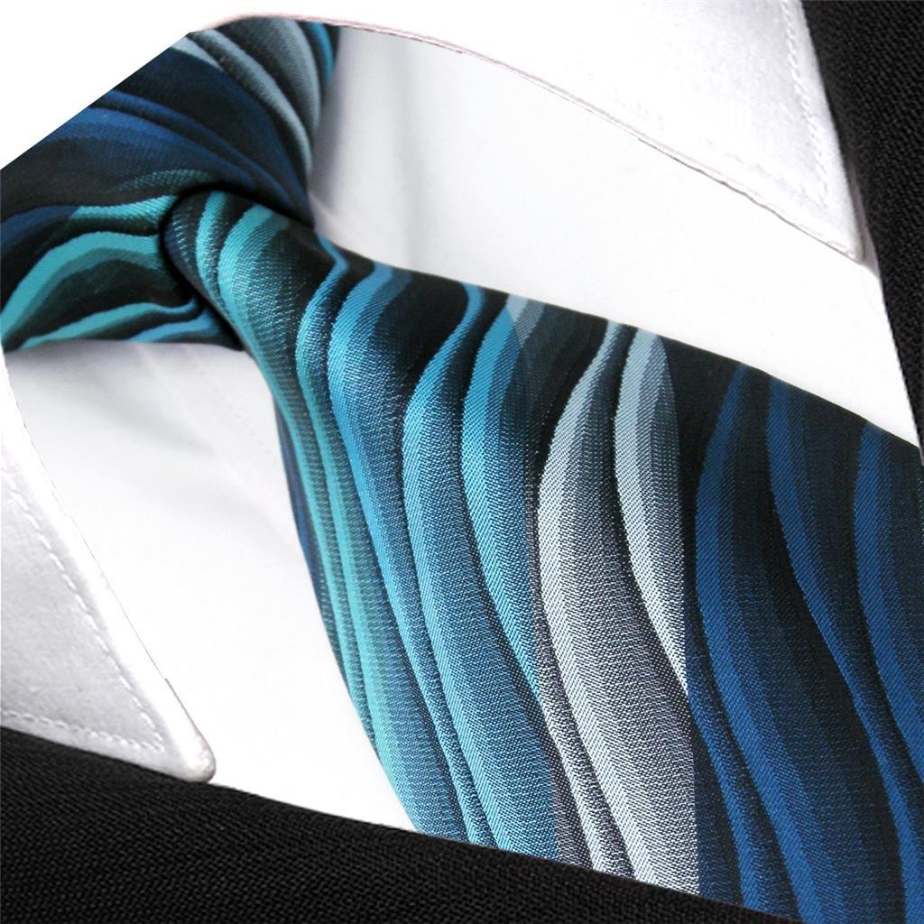shlax/&wing Corbatas para hombre Rayas Azul Multicolor Seda Verde largo 147cm 160cm Seda