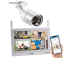 SEQURO GuardPro2 Plus 1080P Home Surveillance Camera System Wireless IP66 Outdoor Camera and 10-inch Touchscreen Monitor, Rea
