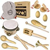 Ehome Toddler Musical Instruments, Natural Wood Percussion Instruments Toy for Kids Preschool Education Baby Musical Toys Ins