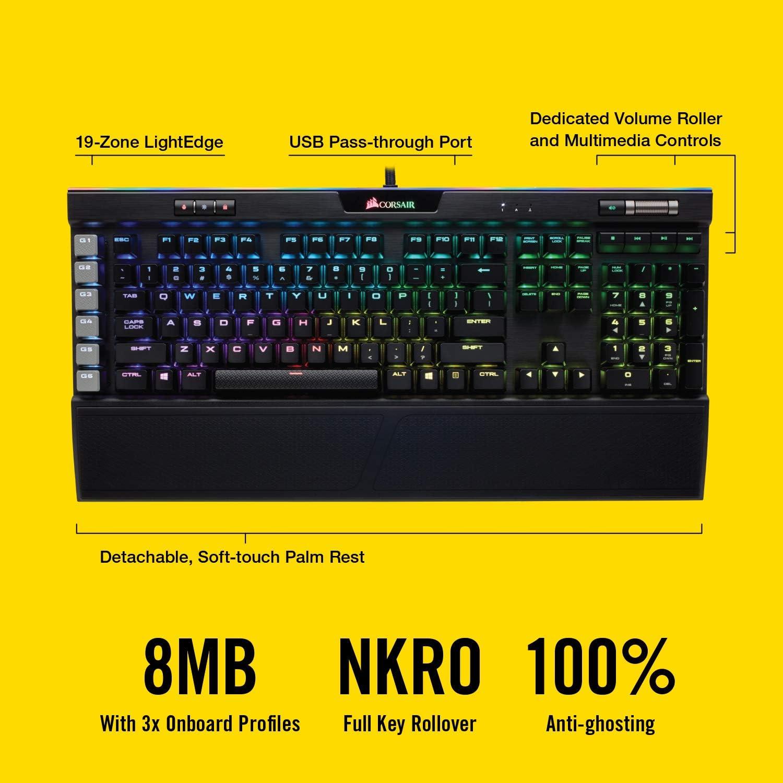 CORSAIR Gaming K95 RGB Platinum Mechanical Keyboard - Cherry ...