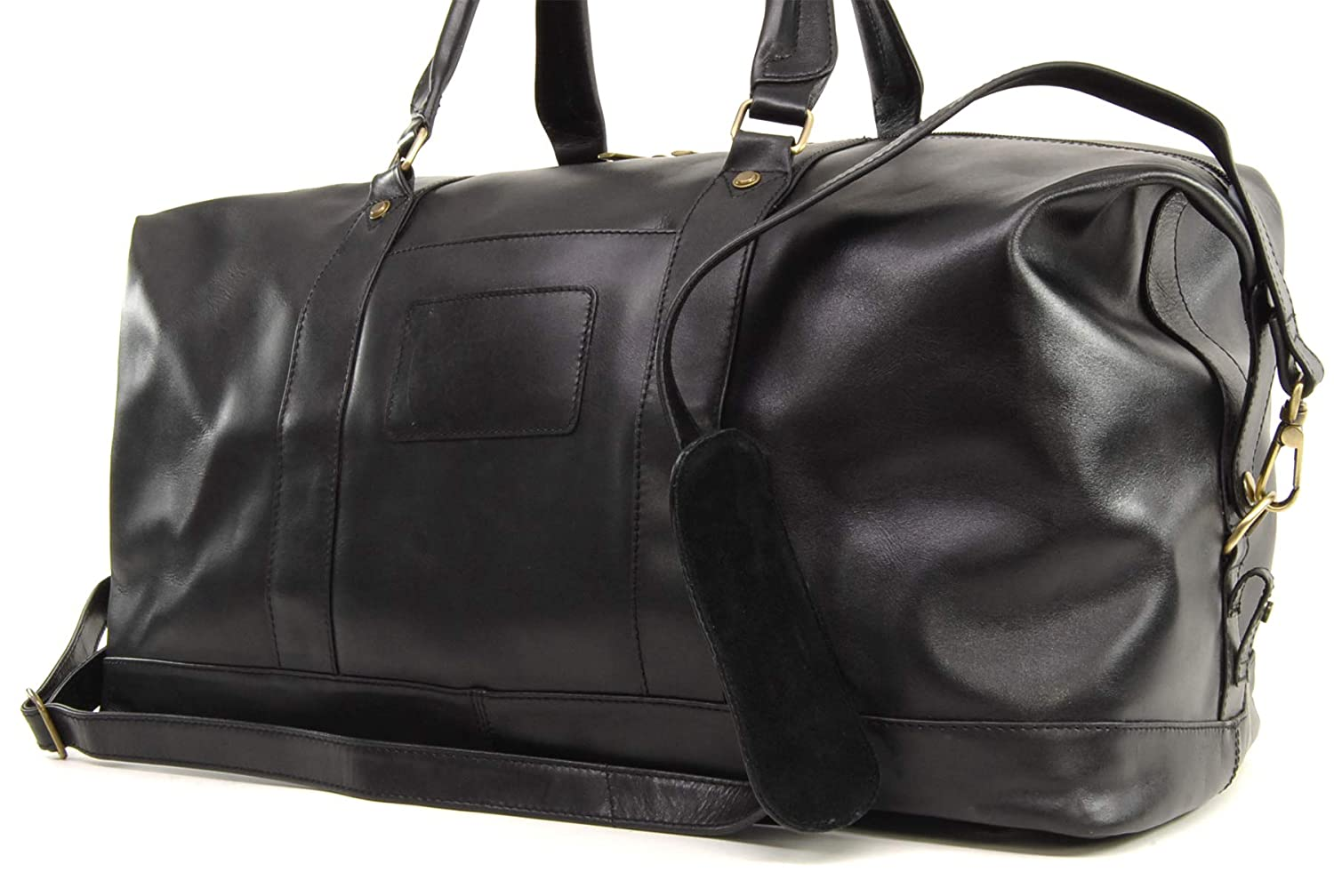 f0bb8cc65f3f Ashwood Travel Weekend Bag - Holdall - Black Leather  Amazon.co.uk  Luggage