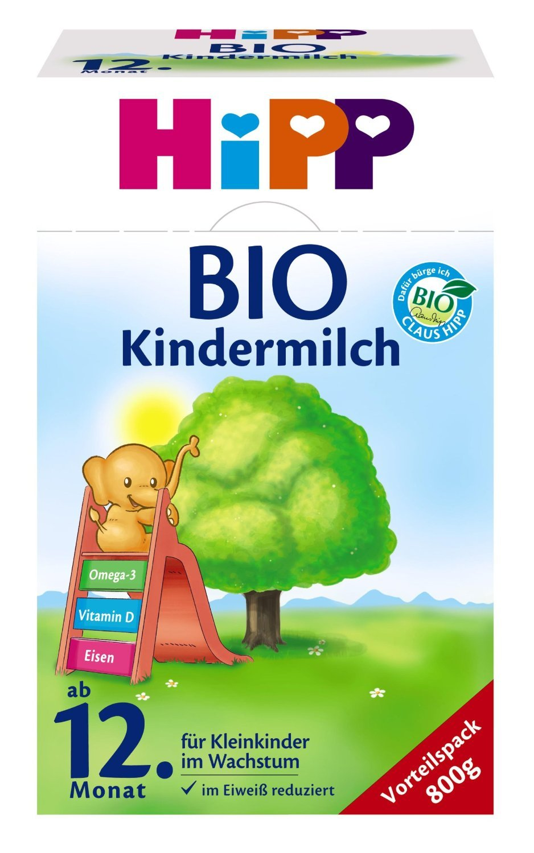 HiPP Bio Kindermilch, ab dem 12. Monat, 4er Pack (4 x 800 g) - Bio 445433 Milchnahrung