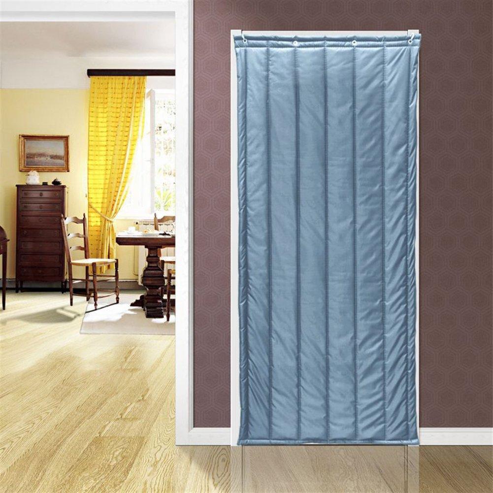 Cortina t/érmica Icegrey para aislamiento de puertas cortina de aislamiento t/érmico ICG-YONGT-001-6-100x210cm panel de protecci/ón aislamiento ac/ústico a prueba de viento