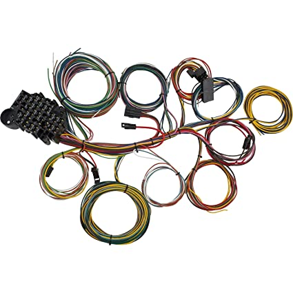 Amazon.com: 22 Circuit Universal Street Rod Wiring Harness w ... on hot rod voltage regulator, hot rod transmission, hot rod hoses, hot rod transformer, hot rod electrical, hot rod cable, hot rod distributor, hot rod pump, hot rod carburetor, ez2wire harness, hot rod brakes, hot rod drive shaft, hot rod radio, hot rod spark plugs, hot rod master cylinder, hot rod motor, hot rod throttle body, hot rod shifter, hot rod controller, hot rod switch,
