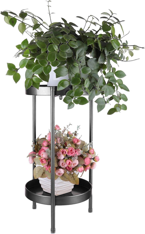 2 Tier Flower Herbs Holder Plant Pot Holder Flower Rack Flower Display Shelf for Indoor Outdoor Home Decoration,80 x 25 x 25cm Dittzz Metal Plant Stand