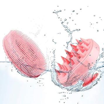 Amazon Com Hair Scalp Massager Shampoo Brush 2 Pack Soft