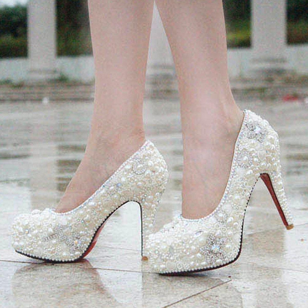 SEXYHER GlamGoldus Perle Dachte Platform 5.5 Zoll High Heels Heels Heels Hochzeit Schuhe - SHO1688820 55543d