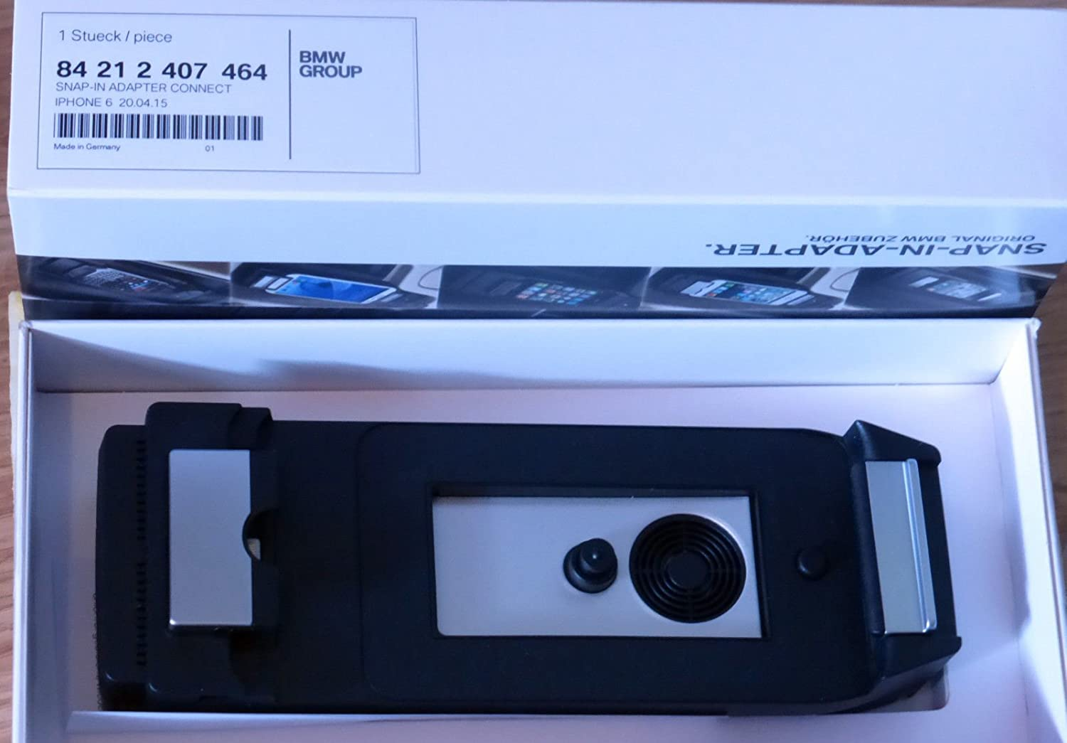 EuroActive BMW OEM Apple iPhone 6 Snap-in Adapter Connect F10 E90 F06 F01  F30 F32 F12 F33 and More