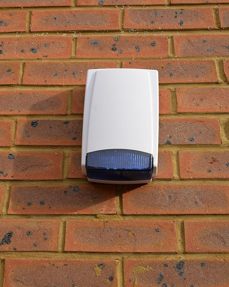 Dummy Alarm Box Blue Long Lasting Flashing LED 2-3 Year Battery Life 2019 Version