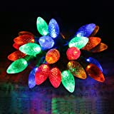 [Commercial Grade]Outdoor Led Decorative String Lights,13 Ft 25 C7 Bulb,Colored Led Christmas Lights,Wedding Party Garden Festive Mood Lighting to Bright Your Home Up--MAXINDA