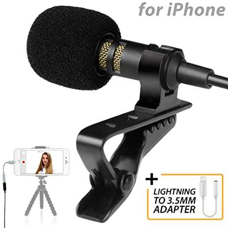 new style 07e85 ddbda Amazon.com: PowerDeWise Lavalier Microphone for iPhone with ...