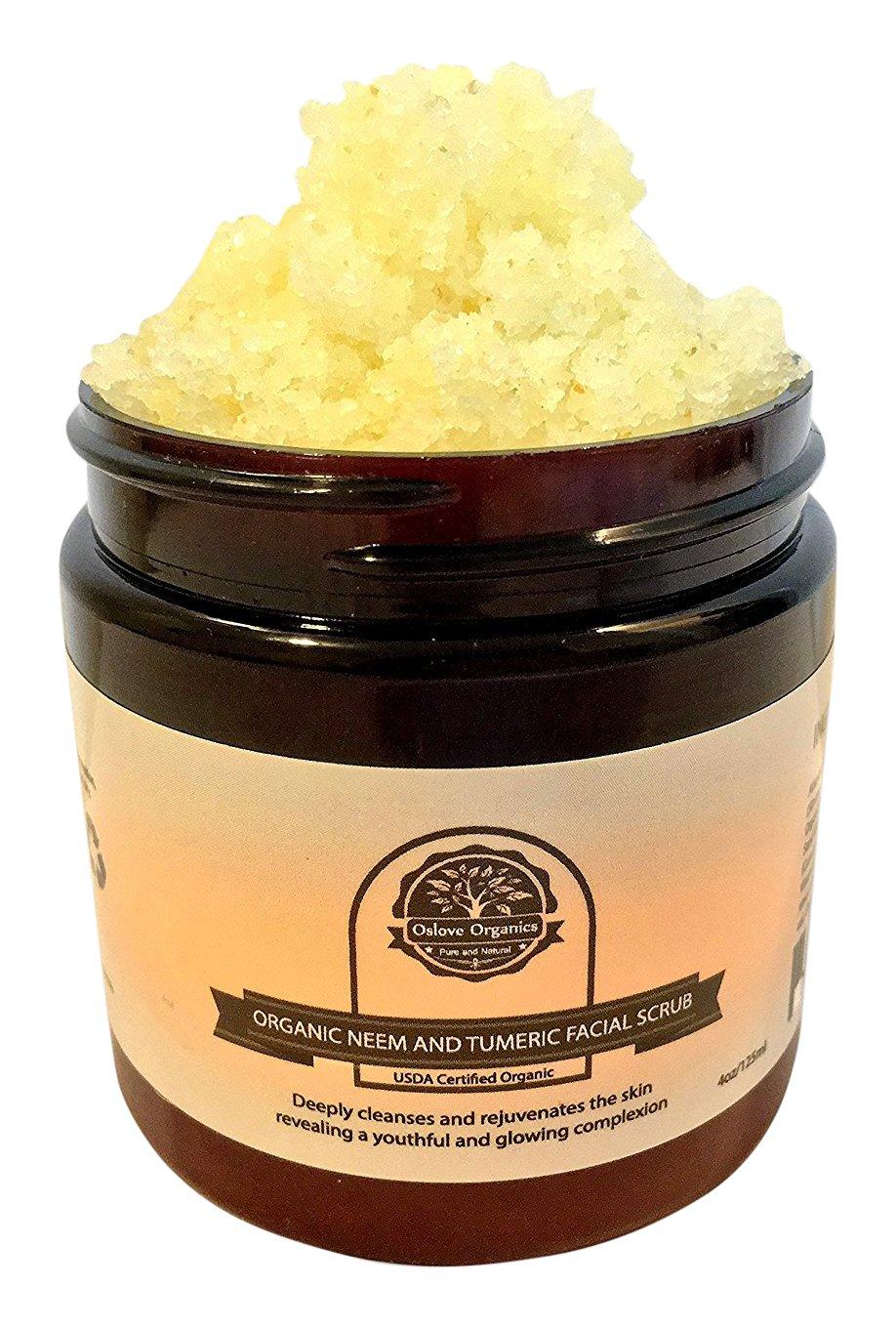 Oslove Organics Organic Neem and Tumeric Facial Scrub, 4 Oz Oslove 010