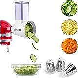 Aikeec - Accesorio para trituradora de queso para batidora, accesorio para rallador de queso, accesorio de preparación fresca