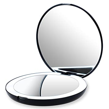 Amazon Com Led Lighted Travel Makeup Mirror 1x 10x Magnification