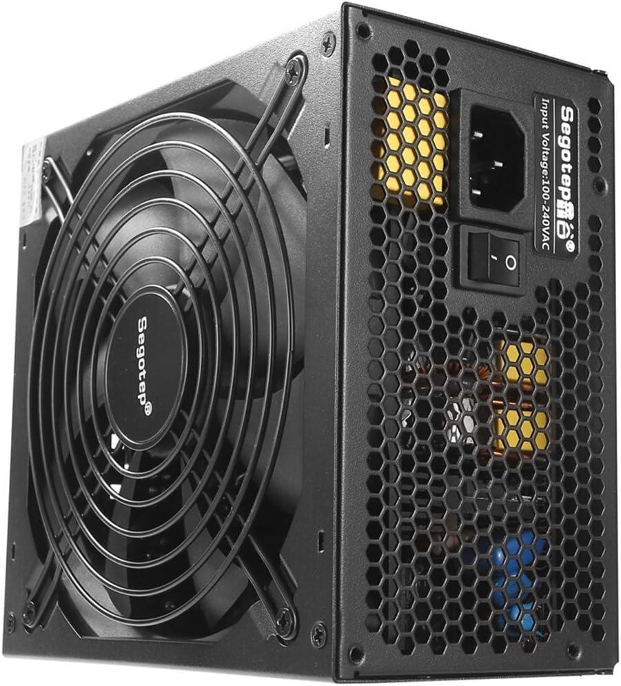 جهاز إمداد طاقة الكمبيوتر ايه تي اكس طراز GP900G كامل الوحدات لألعاب الكمبيوتر من فيستنايت 800 واط، 12 فولت بي اف سي نشط اس ال اي جاهز بكفاءة 91% ومدخل تيار متردد عالمي ذهبي 80 بلس