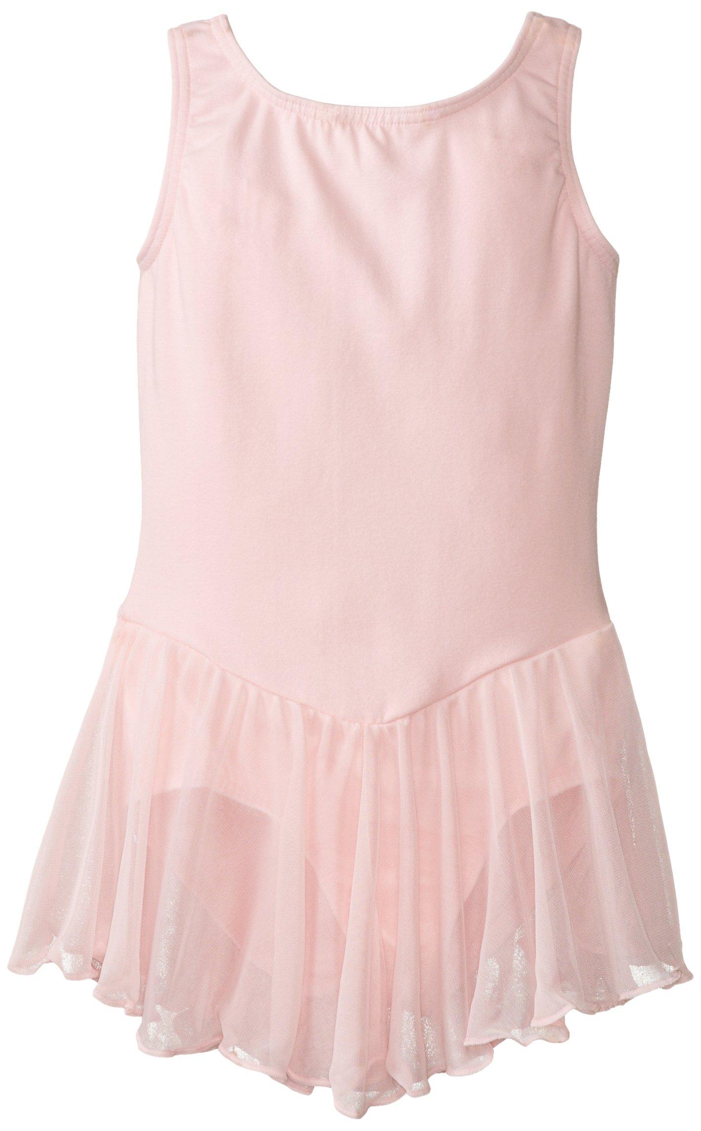 Clementine Girl's 2-6X Girls Leotard Dress, Light Pink, 16