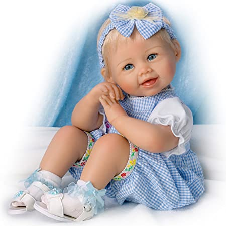 Ashton Drake u0027Madisonu0027 - Poseable Lifelike Baby Girl Doll Designed by  Bonnie Chyle -