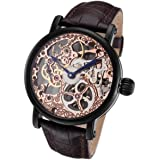 Rougois Tattoo Rose Gold Mechanical Skeleton Watch RS10006