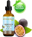 MARACUJA OIL. 100% Pure / Natural. Cold Pressed / Undiluted. For Face, Hair and Body. 1 Fl.oz.- 30 Ml. By Botanical Beauty