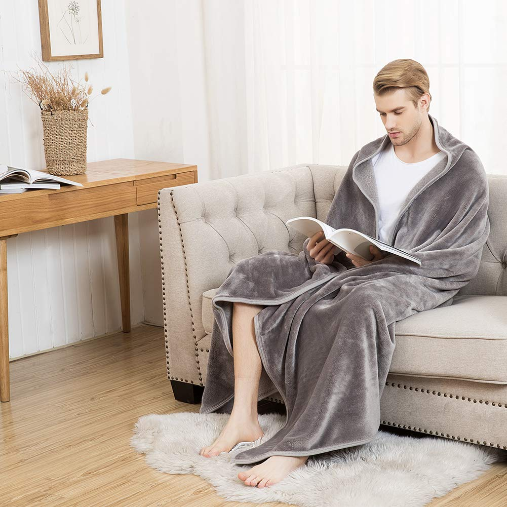 Durable Breathable White, 60/×80 Lightweight Bencier Flannel Soft Cozy Micro Plush Solid Color Shaggy Throw Comfy Silk Blanket 100/% Polyester