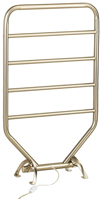 towel warmer rack lowes conair drying reviews heated canada amazon mid size wall mounted floor standing inch chrome finish home kitchen