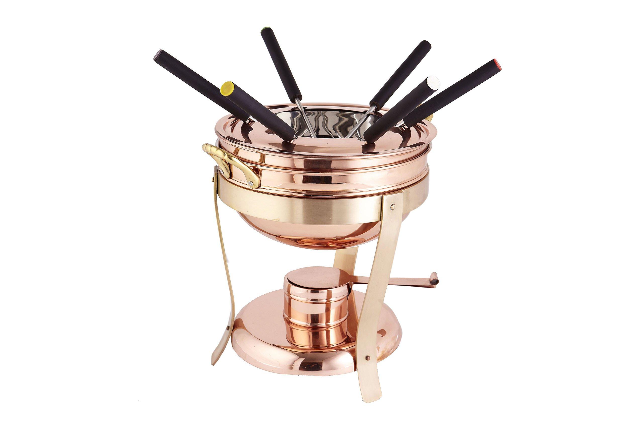 Décor Copper & Brass Fondue Set, 2.75 qt.