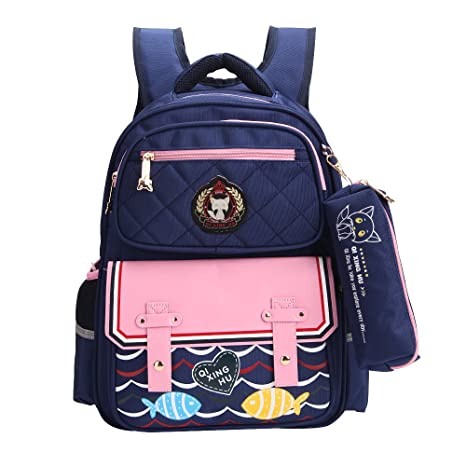 Amazon.com  Fox World Kids School Bags Backpack for Boys and Girls with  Pencil Case