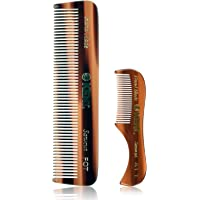 Kent Set of Combs - 81T Beard and Mustache Comb and FOT Pocket Comb - Best Beard Care Kit, Travel, and Home, Daily…