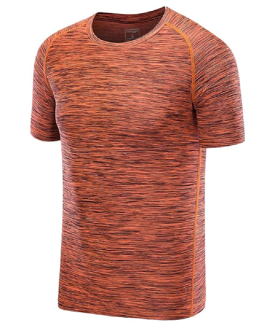 Howme Mens Athletic Bodybuilding Wicking Short-Sleeve Tees Shirt