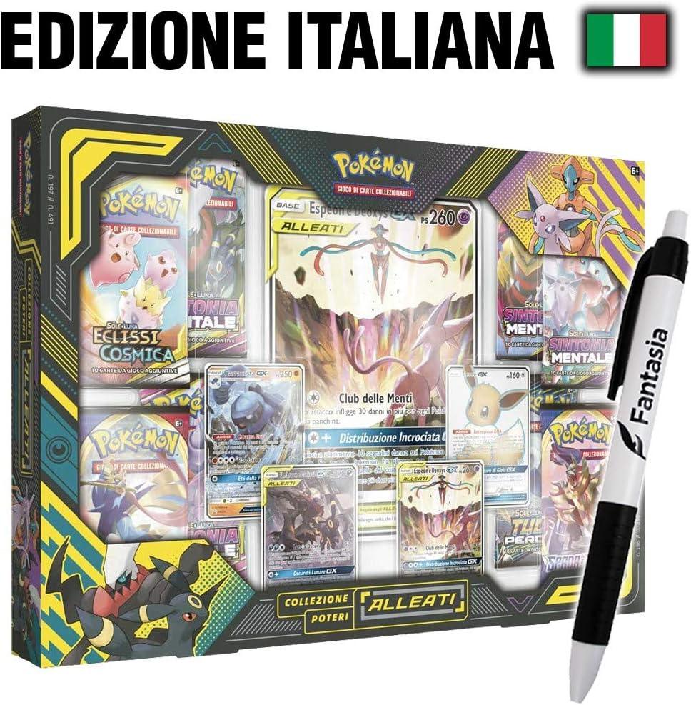 Penna Espeon e Deoxys GX Fant/àsia Pokemon Collezione Poteri Alleati Italiano
