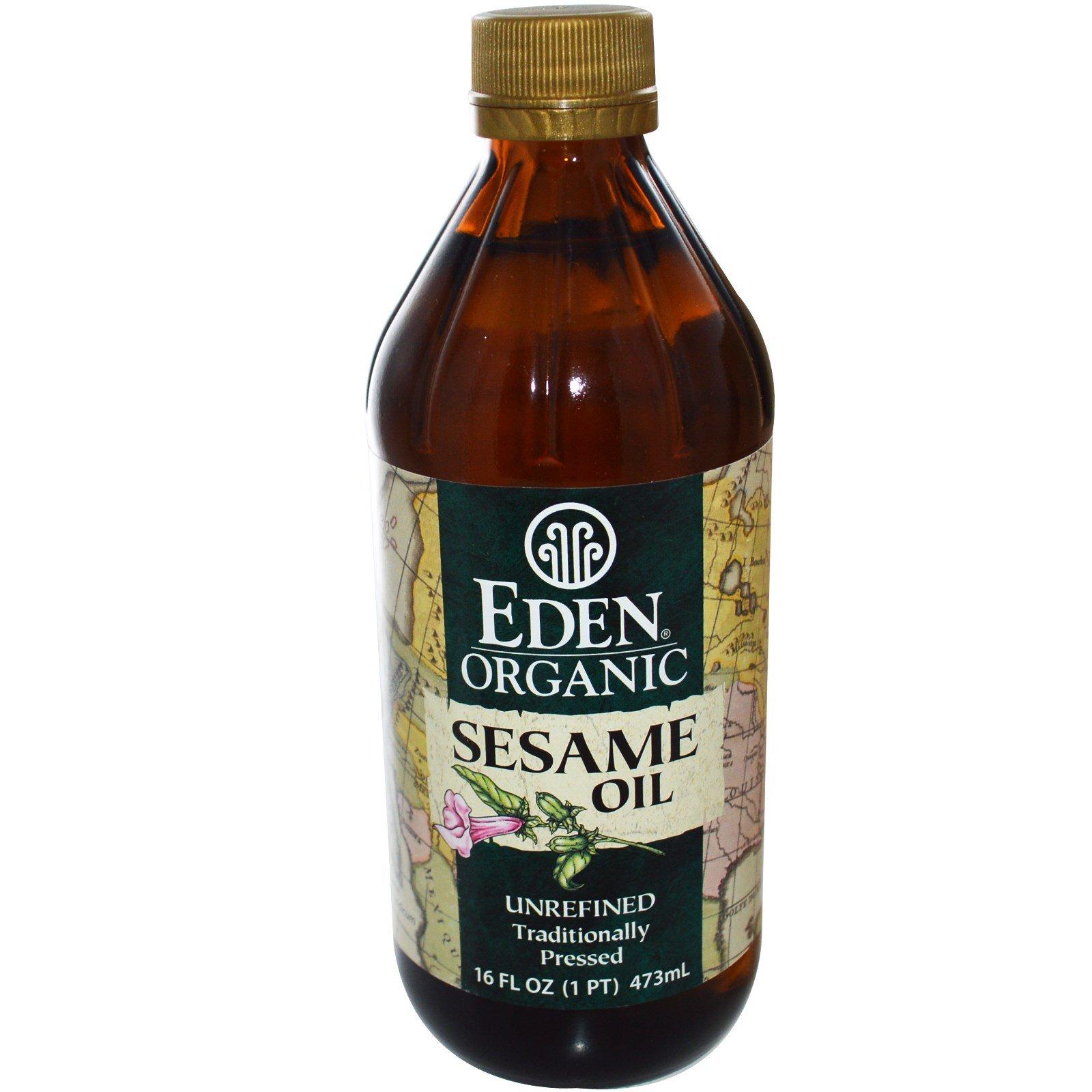 Eden Foods, Organic Sesame Oil, Unrefined, 16 fl oz (473 ml) - 2pcs