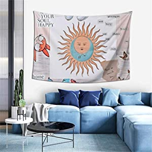 Wonderwall Printed Tapestries Wall Hanging for Living Room Home Decor 60inX40in