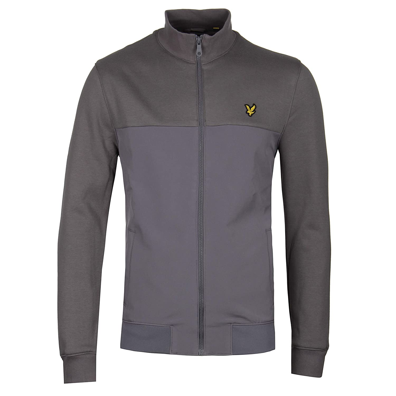 Lyle & Scott Soft Shell Jersey Trichterhals Urban Grau Sweat
