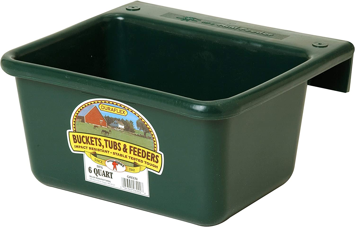 Little Giant Plastic Mini Feeder Durable & Mountable Plastic Feed Bucket for Livestock & Pets