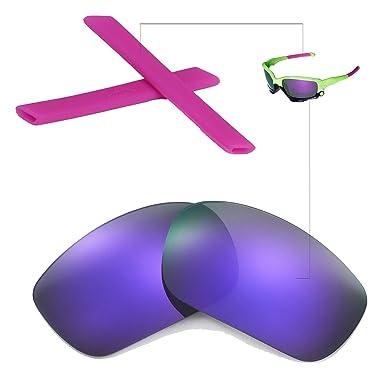 walleva Reemplazo Lentes o lentes con earsocks para Oakley Racing Jacket – Gafas de sol deportivas