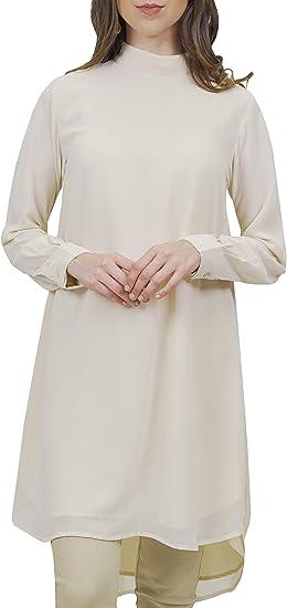 Artizara Hena Black Long Sleeve Modest Everyday Tunic for Women