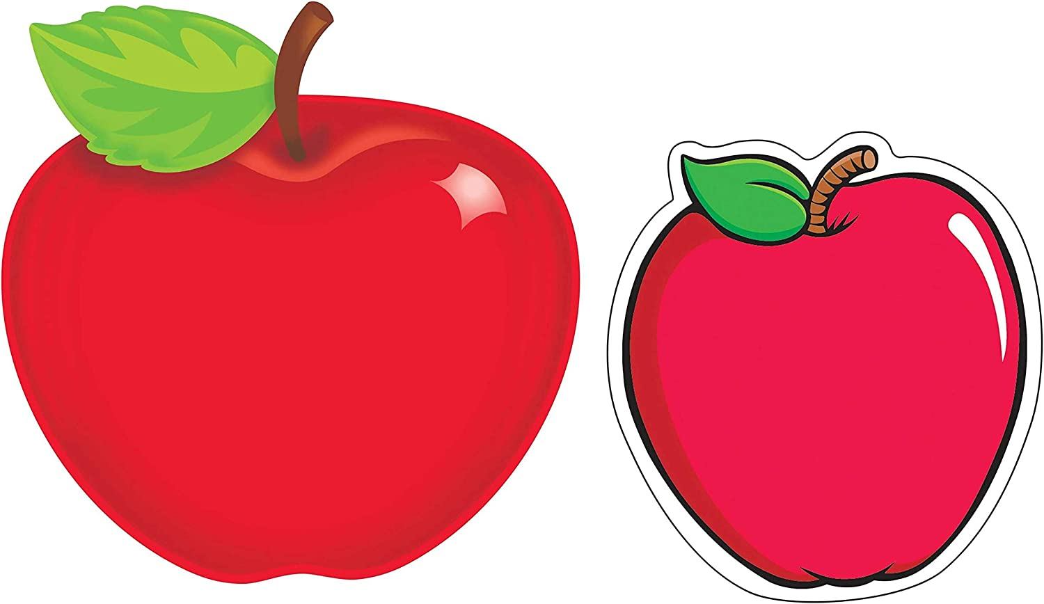 Desk Door Apple Classroom Decorations Class Room Walls Party Lockers Set of 36 Large Apple Cut Outs and 36 Mini Apple Cutouts for Bulletin Board