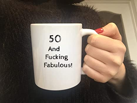 50th Birthday Mug50th GiftSisterWifeFucking FabulousCoffee