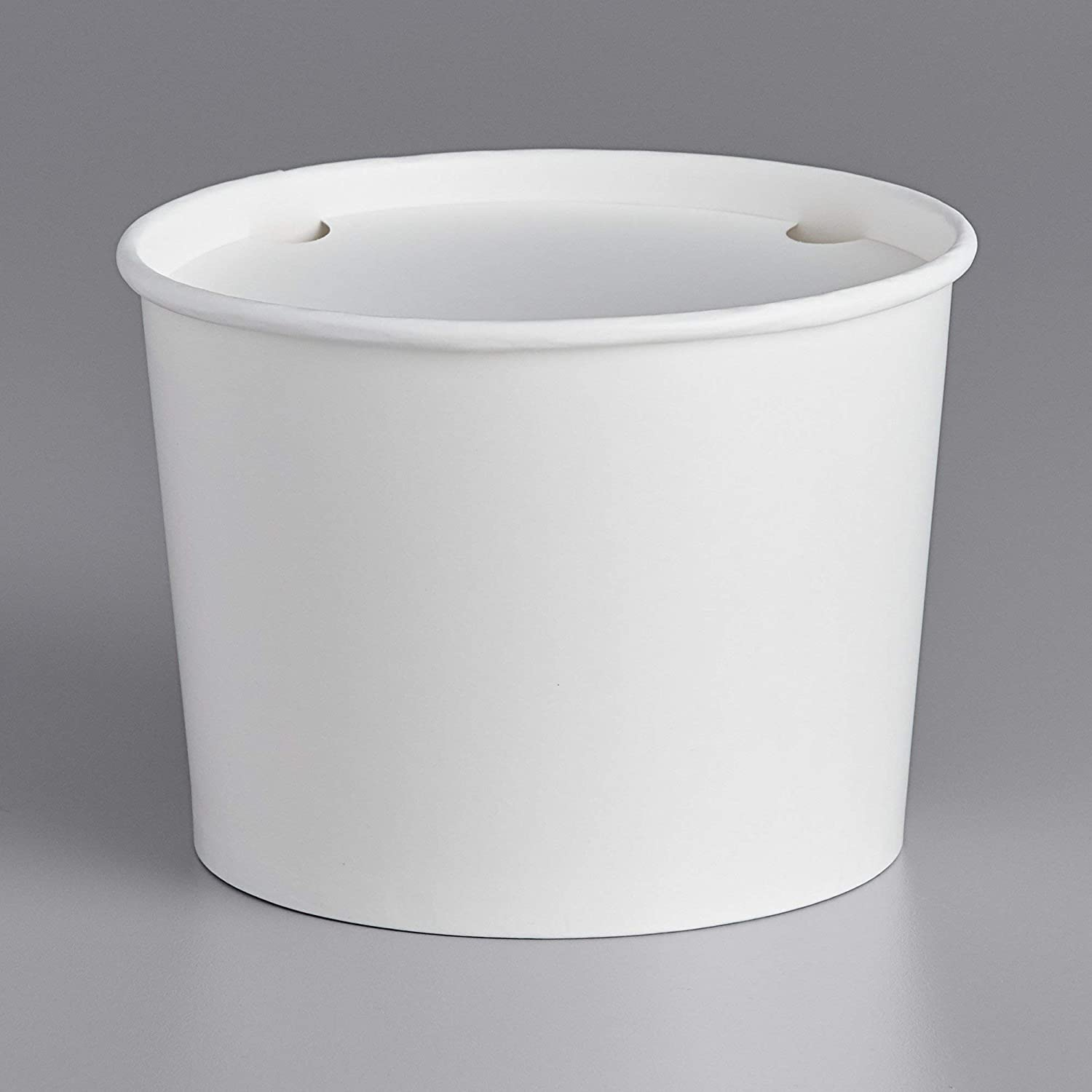 (64 oz, White Bucket, Pack of 10) tekbotic Disposable Paper Cardboard Food Buckets with Lids for to Go Orders/Ice/Food Box/Container for Chicken/Burgers/Fries