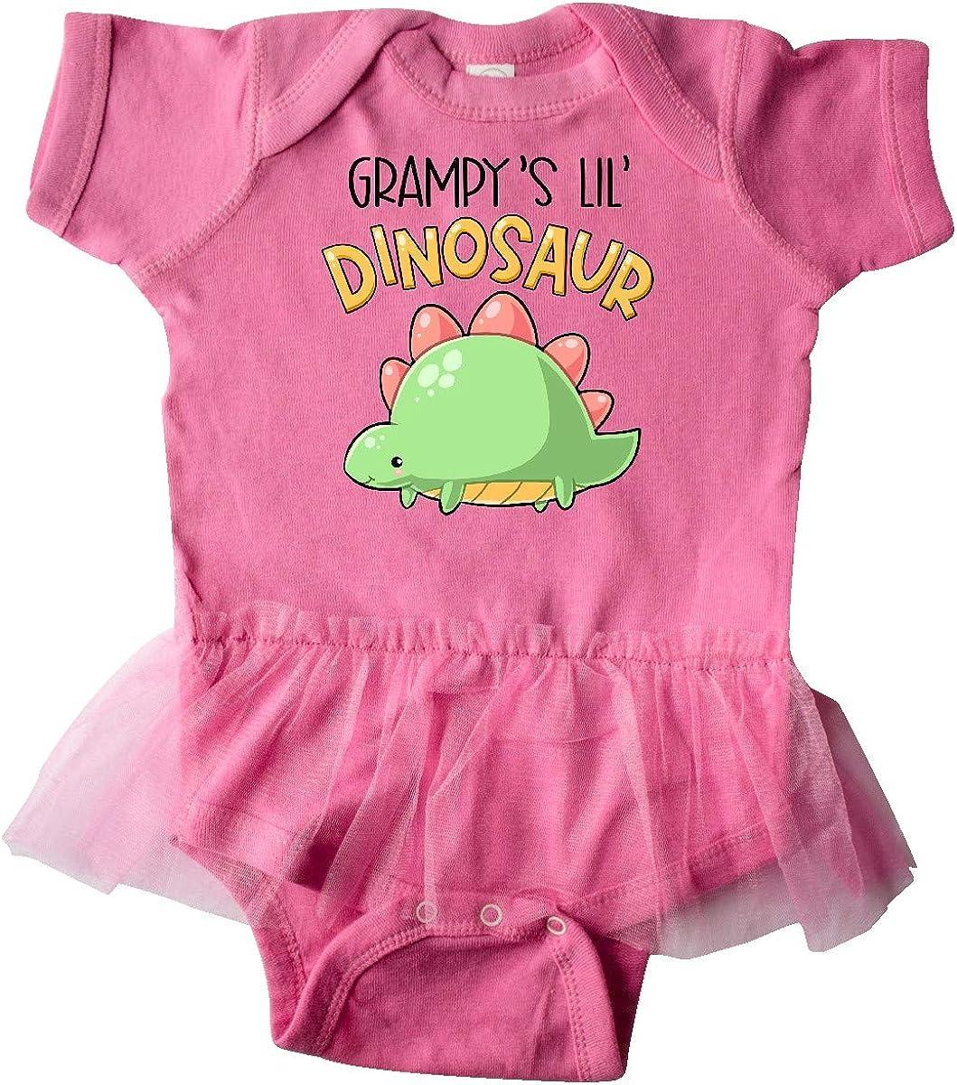 inktastic Grampys Lil Dinosaur with Cute Stegosaurus Infant Tutu Bodysuit