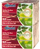 10 Pack - GreenLight Diamond Strike on Box 32 Count Matches