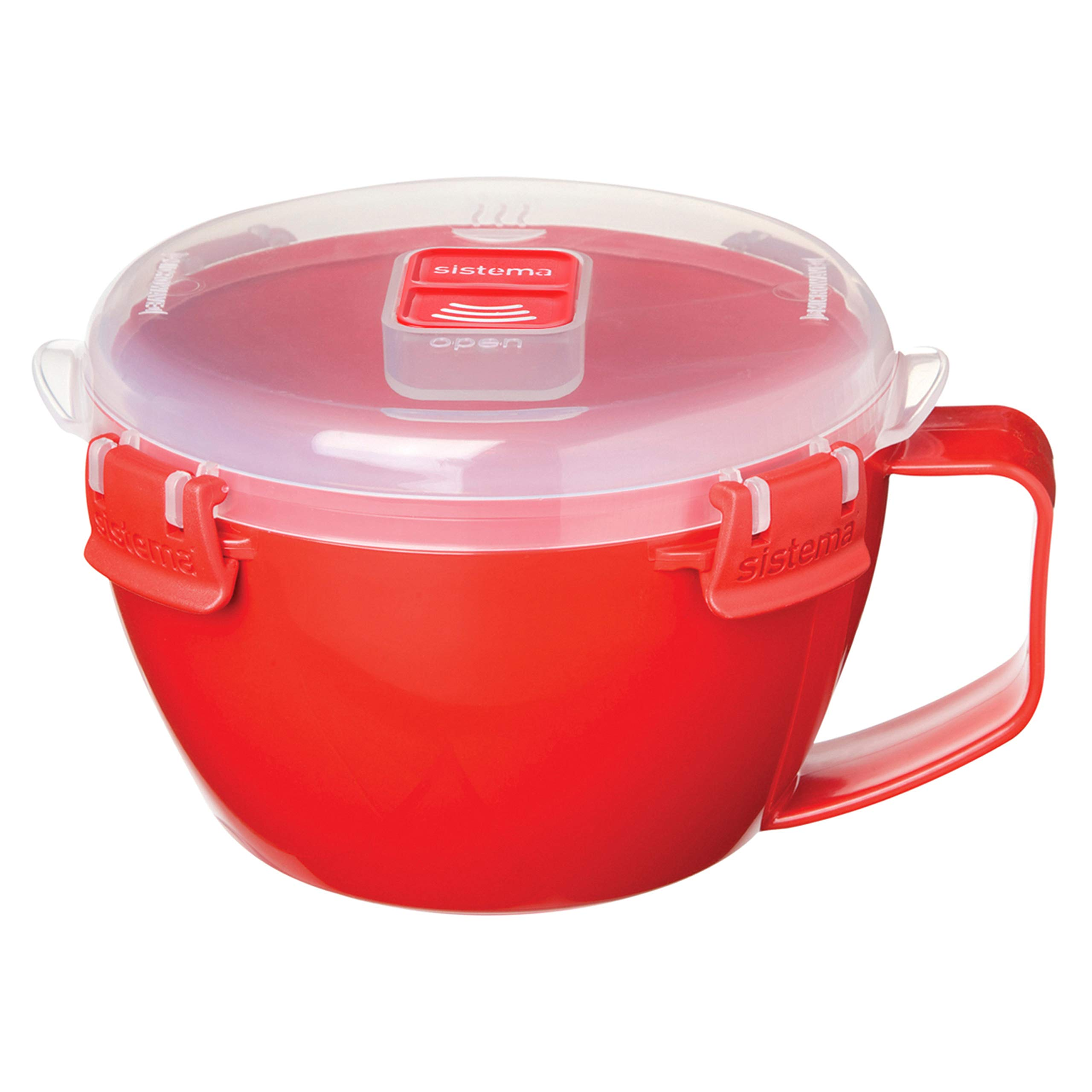 Sistema Microwave Collection Noodle Bowl, 31.7 oz./0.9 L, Red (1109ZS) by Sistema (Image #2)