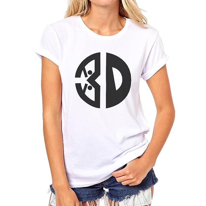 Ninja Logo BW Circle Smile XXL Mujer T-Shirt: Amazon.es ...