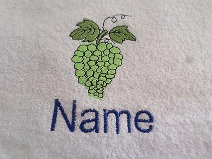 Toalla de mano, toalla de baño, baño (o) personalizado con uvas Logo